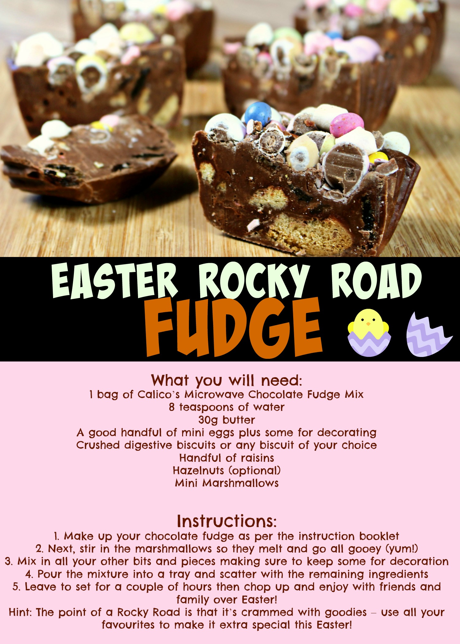 Rocky Road Fudge Recipe Easter